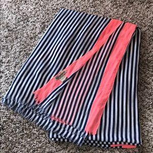Gorjana Lightweight Wrap Scarf Blue Pink Stripes